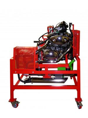 1/2-Zylinder-Motorrad-Motor mit Vergaser