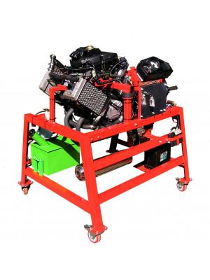 4-Zylinder-Motorrad-Motor mit Vergaser